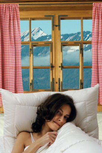 Hefel Zirbe Bettdecken und Kissen