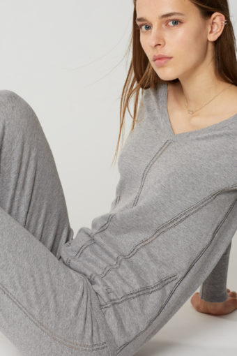Maison Lejaby Softwear Loung Strick in grau