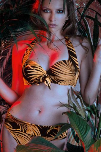 Bikini von Nicole Olivier mit exotischem Blätter-Print