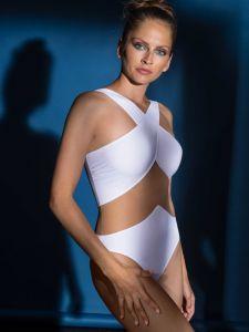 weißer Badeanzug Tamarin von Nicole Olivier