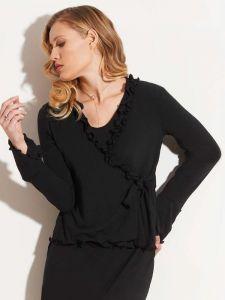 Strickjacke Wolle Viscose schwarz von Chiara Fiorini