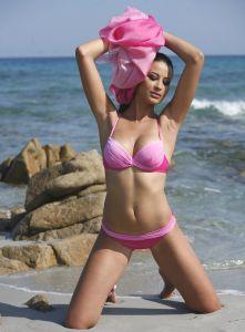 Push-Up Bikini Iguape rosa von Exilia Mare