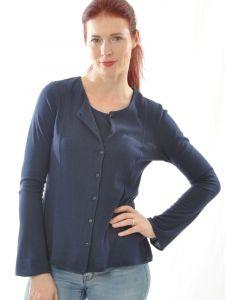 Bouretteseide Cardigan dunkelblau von Alkena