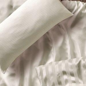 Cellini Seidenbettwäsche Schmaler Streifen Champagner Detail
