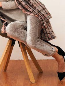 Lounge Hose Modal Samt taupe - das Oberteil ist nicht im Lieferumfang enthalten