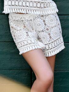 Shorts aus Spitze Creme von Chiara Fiorini - das Top ist nicht im Lieferumfang enthalten