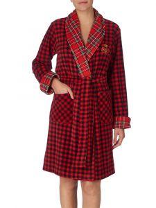 Morgenmantel Fleece Red Lauren by Ralph Lauren Sleepwear für Damen
