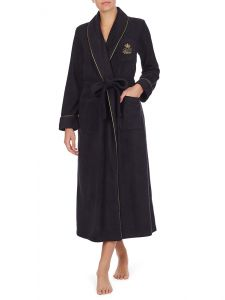 Morgenmantel Fleece Black Gold Lauren by Ralph Lauren Sleepwear für Damen