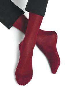 Herren Socken aus Seide von Bleuforêt in weinrot