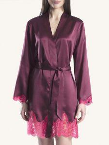 100% Seide Kimono Soie d´Amour beere-fuchsia von Aubade