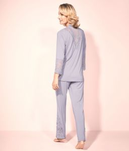 Modal Pyjama mit Spitze Peony Florale lavendel von Triumph
