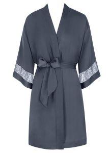 Crepe Mantel Chemises Matte von Triumph in sturmgrau - der Pyjama ist nicht im Umfang enthalten!