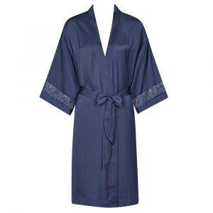 Crepe Morgenmantel Chemises Matte von Triumph in dunkelblau