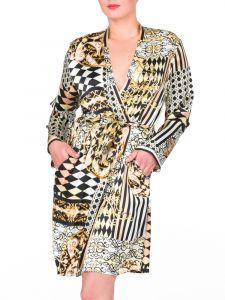 Kimono Seide schwarz-gold von Eva B. Bitzer