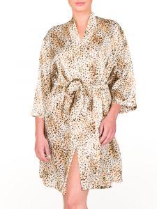 Seide Morgenmantel Leopard Print St. Elm von Gattina