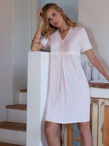 Modal Nachthemd in zartem rosé von Chiara Fiorini
