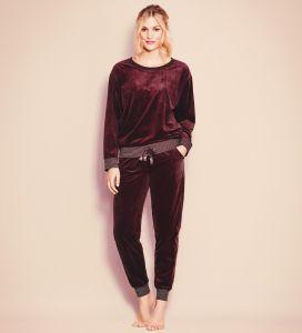 Nicki Pyjama Everyday in traube-violett von Triumph