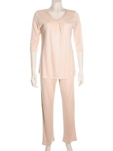 Wirkseide Pyjama Adelaide puder von Nightdreams