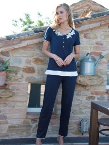 Modal Pyjama dunkelblau von Chiara Fiorini