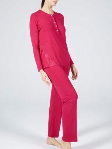 Modal Damen Schlafanzug Lampone No. 2 himbeere rot von Verdiani Donna