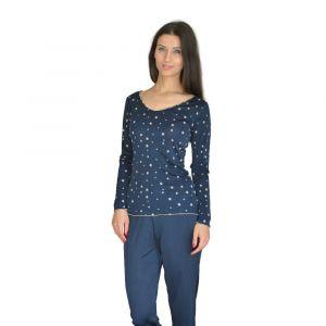 Pyjama mit Seide Marrakesch mit Sternenmuster von Nightdreams