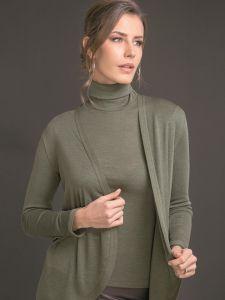 Merinowolle mit Seide Rollkragen Shirt von Artimaglia kaki grün - die Jacke ist nicht im Lieferumfang enthalten