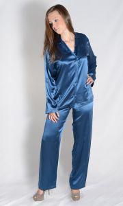 Seidenpyjama Camoe blau von Studio La Perla