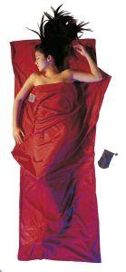 Seide Baumwolle Travel Sheet Silk Cotton monk´s red von Cocoon®