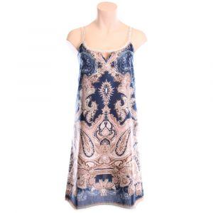 Kleid Moon Shadow dunkelblau gold aus Baumwolle Seide von Gattina