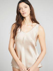 Camisole Trägerhemd 100% Seide Satin Bitzer goldsand (skin)