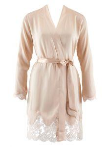 100% Seide Kimono Soie d´Amour goldsand von Aubade