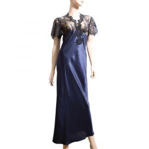 Seide Nachtkleid Chantage tintenblau von Marjolaine