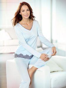 Seidenschlafanzug Mahé bleu von Nightdreams