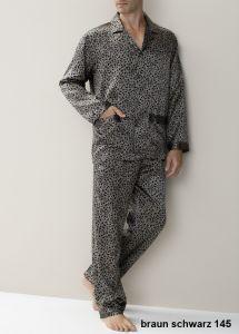 Zimmerli 100% Seide Herren-Pyjama 145 braun schwarz