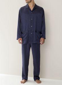 Zimmerli 100% Seide Herren-Pyjama gepunktet
