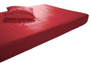 Seide-Viscose Spannbettlaken Helios Red Spinnhütte Plauen