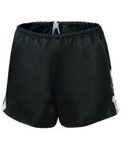 Seide Shorts Satin + Lace schwarz mit weiß von Eva B. Bitzer