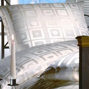 Seide Kissenbezug Finestra Champagner natur weiß von Cellini Design