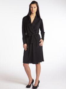 Kimono Seide Wickelmantel Seidenjersey schwarz Gattina