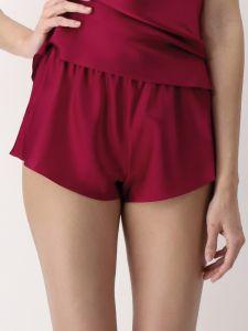 Damen Shorts 100% Seide rouge rot Luna di Seta