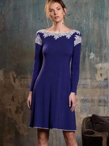 Nachtkleid Zoe dunkel-lila aus Modal von Imec