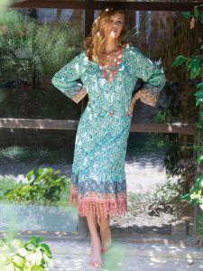 Viscose Sommerkleid türkis-blau von Chiara Fiorini