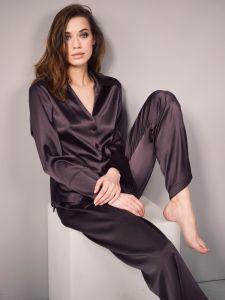 Schlafanzug aus Stretchseide terra Sloane Street exclusiv von Eva B. Bitzer