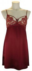 Seide- Slipdress Tease Slip Dahlia-Rot von Shell Belle Couture