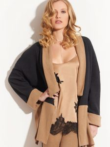 Jacke Kuschel Cotton anthrazit - zimt von Chiara Fiorini - das Top und die Hose sind nicht im Lieferumfang enthalten