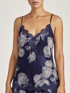 Seide Top Toi Mon Amour nachtblau-sand Blumenmuster von Aubade