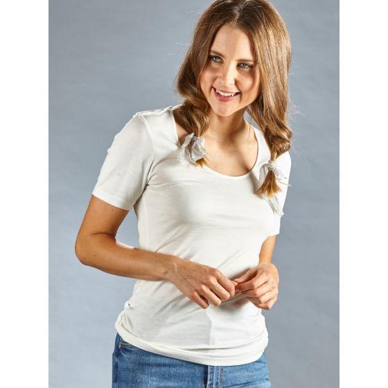Seide + Bio-Baumwolle kbA T-Shirt naturweiß von Kokon Zwo