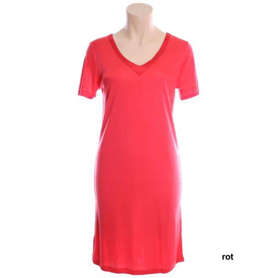 Kurzarm Nachthemd Adelaide Nr. 1 aus Wirkseide in rot