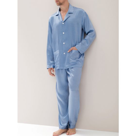 Zimmerli 100% Seide Herren-Pyjama 141 fantasy blue