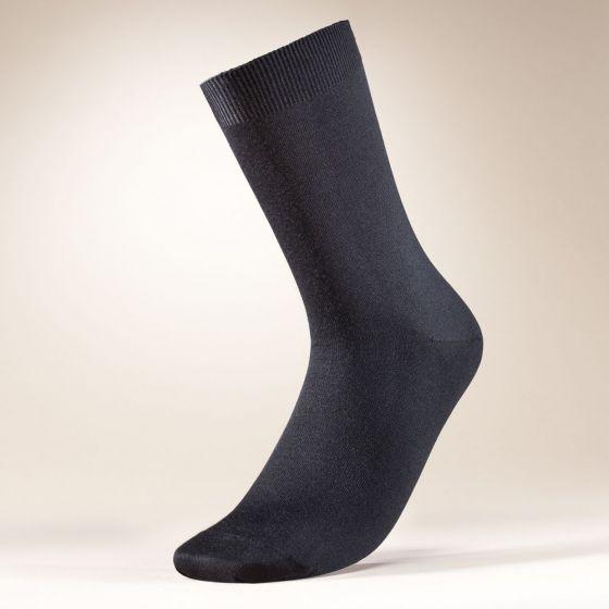 Herren-Socken aus 100% Merinowolle von Zimmerli schwarz